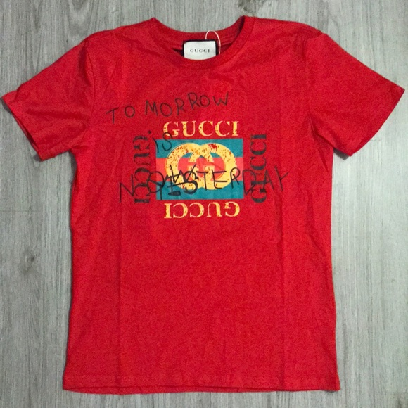 98e6bfd0a Gucci Shirts | Tomorrow Is Now Yesterday Tshirt | Poshmark